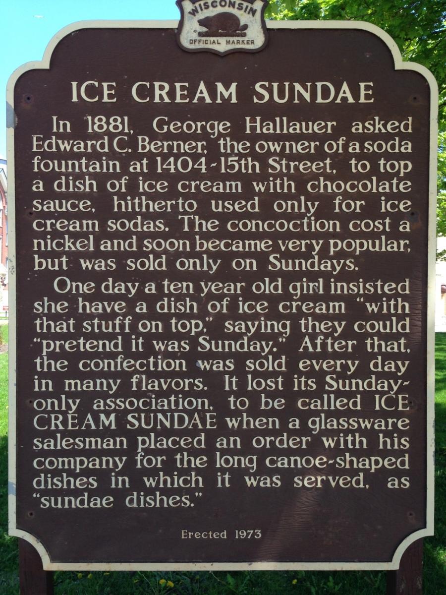 Home of the Ice Cream Sundae