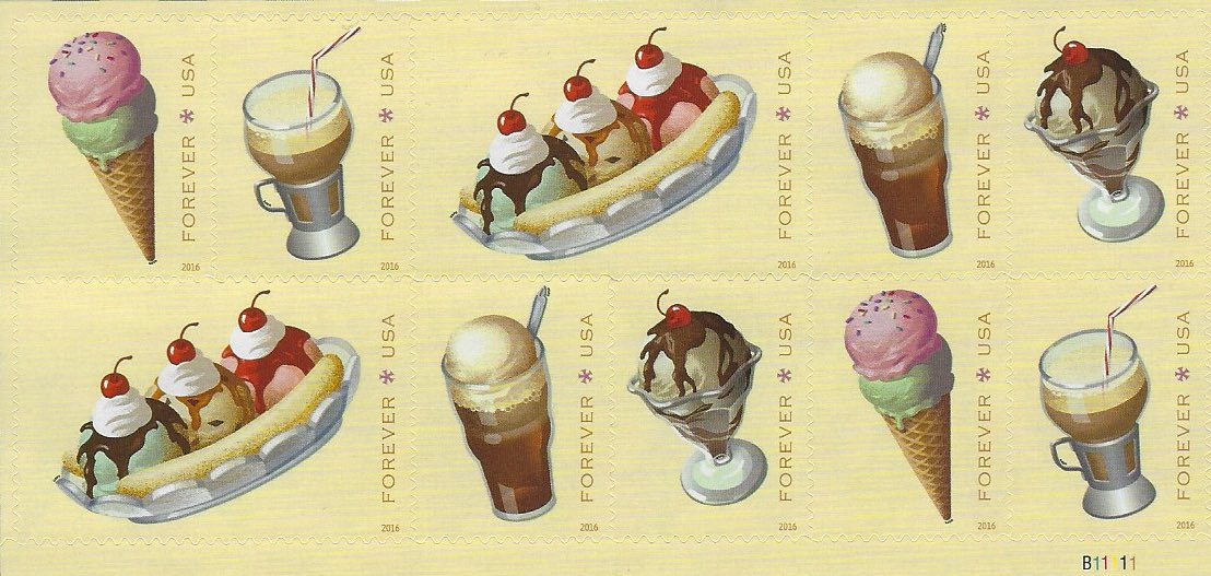 US Postal Ice Cream Stamps