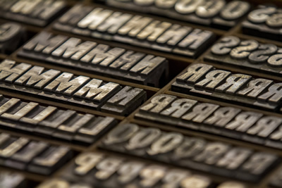 Printing Plate Letters