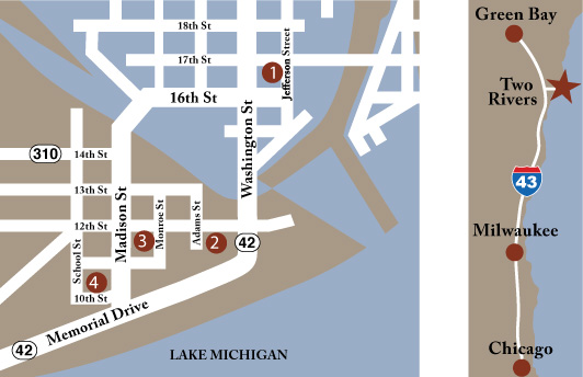 Map to all 4 museums